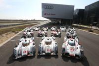 Audi presume a sus 13 autos ganadores de las 24 horas de Le Mans