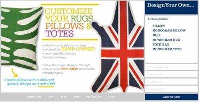 Diseña tus propios cojines y también alfombras