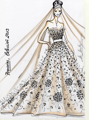 Pronovias 2013: ¡con estos bocetos dan ganas de casarse!