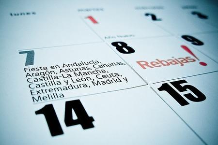 Calendario de días inhábiles para el 2.009