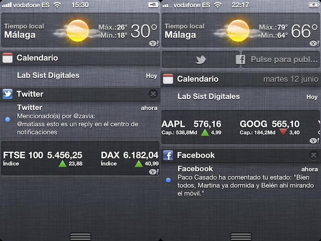 iOS 5 vs. iOS 6, social