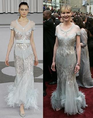 Kirsten Dunst de Chanel Alta Costura
