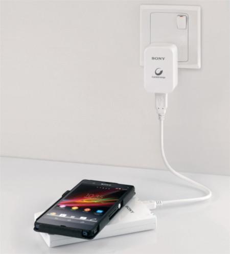 Sony CP-W5, batería auxiliar y cargador inalámbrico en uno