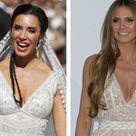 El vestido de novia de Pilar Rubio ya lo llevó Heidi Klum en 2018