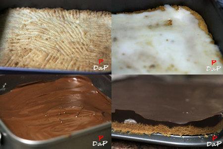 Hacer bocaditos de chocolate y menta