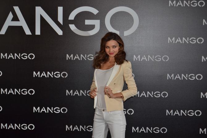 Foto de Miranda Kerr para Mango, rueda de prensa (9/16)