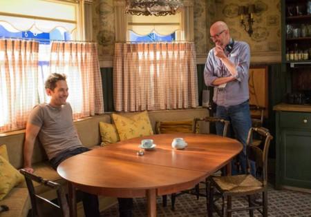 Paul Rudd y Peyton Reed en el rodaje de Ant-Man
