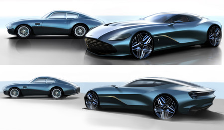 Así luce el Aston Martin DBS GT Zagato en sus primeros 'teaser': un homenaje al centenario de Zagato