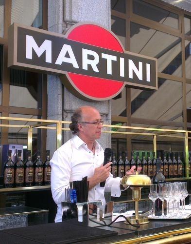 Javier de las Muelas en la presentación del Martini Gran Lusso
