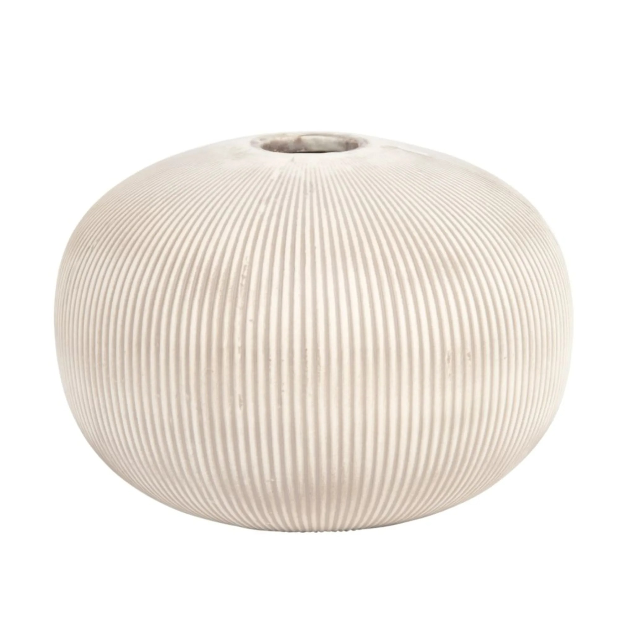 Jarrón de porcelana beige Alt.13