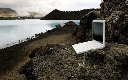 Imagen de la semana: El MacBook en el Lago Azul