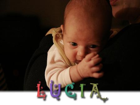 Los nombres de bebé más utilizados en España: Lucía