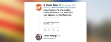 Assange cree que El Mundo Today va en serio. Y es el último paso que le quedaba para convertirse en chiste
