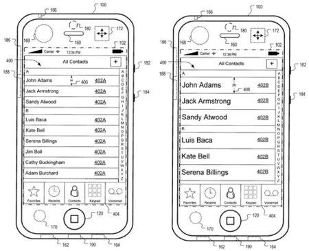 Una nueva patente revela mejoras en la interfaz del teléfono y una cámara frontal