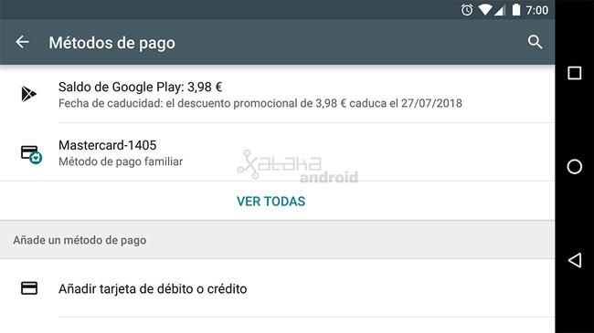 Saldo de Google™ Play