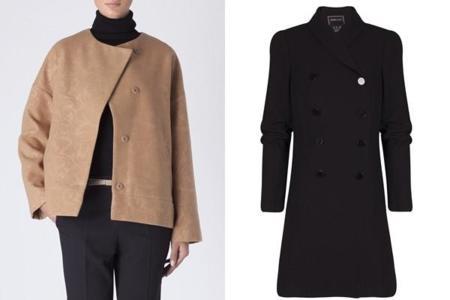Abrigo para vestido corto negro