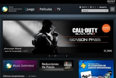 Sony pone su tienda online multimedia en la Web