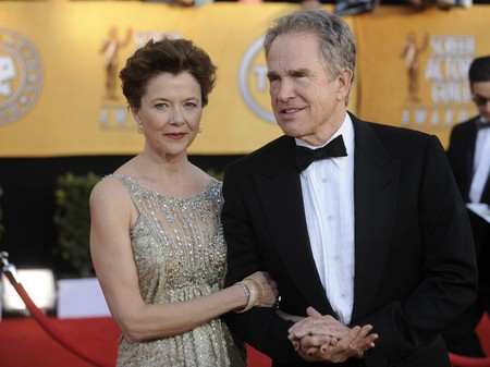 Annette Bening con Warren Beatty