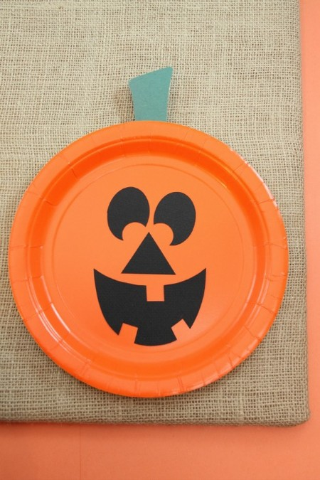 Manualidades Halloween Calabaza Plato