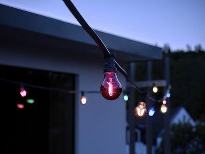 Una apuesta tan sencilla como adorable, bombillas LED de estilo retro para Navidad