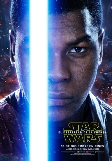 Star Wars 7 El Despertar De La Fuerza Imagenes Nuevos Carteles De Los Protagonistas 2 Finn