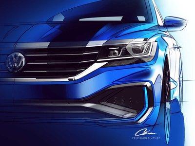 Los bocetos del Volkswagen Passat 2020 confirman una fusión del diseño de Arteon y Jetta