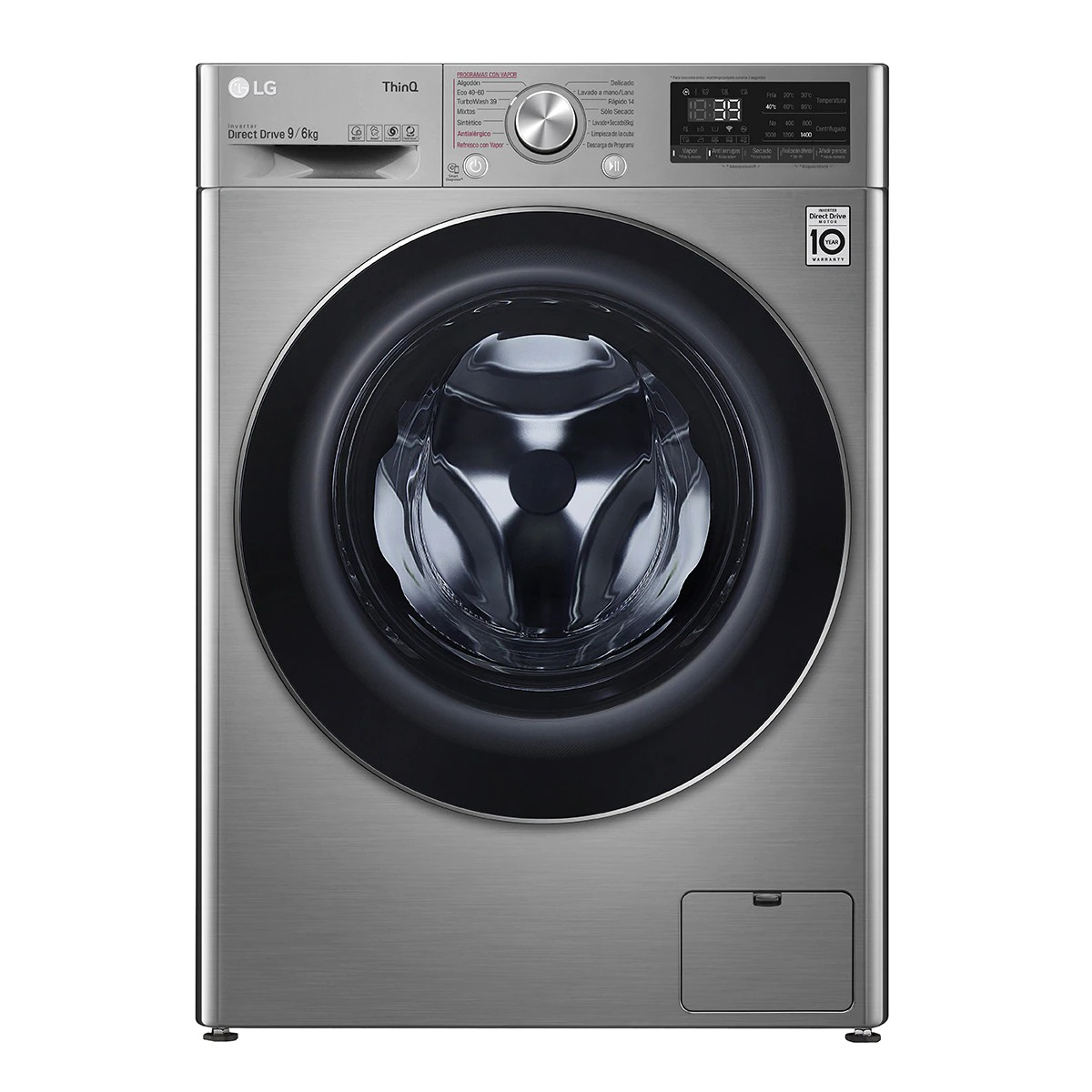LG F4DV7009S2S 9 Kg and 1,400 rpm Smart Washer Dryer