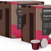 Las cápsulas de café más vendidas de Amazon son de Solimo, compatibles con Nespresso y, con este cupón, te llevas 100 por menos de 10 euros