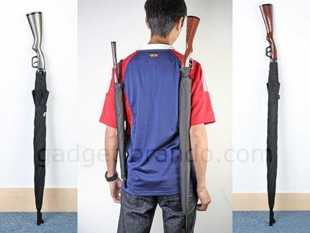 Escopeta paraguas, para no pasar desapercibido