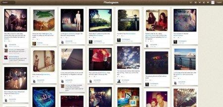 Pinstagram muestra las fotos de Instagram bajo un diseño a lo Pinterest