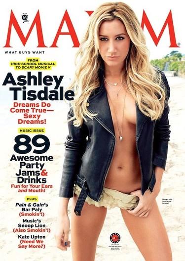 ¡Qué viva Ashley Tisdale y su topless para Maxim!