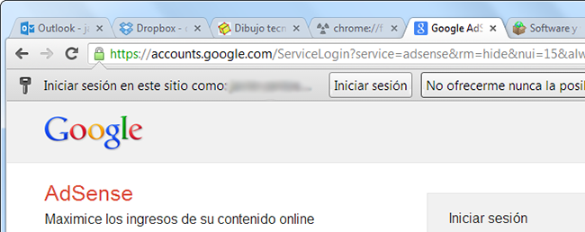 Loguearse en Chrome