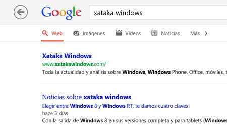 Google Search App para Windows 8, buscar