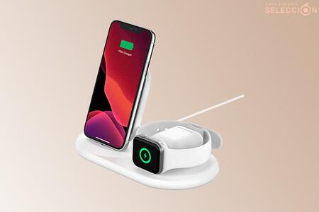 El cargador inalámbrico 3 en 1 de Belkin para iPhone, Apple Watch y AirPods está en Amazon a 88 euros, su precio mínimo histórico