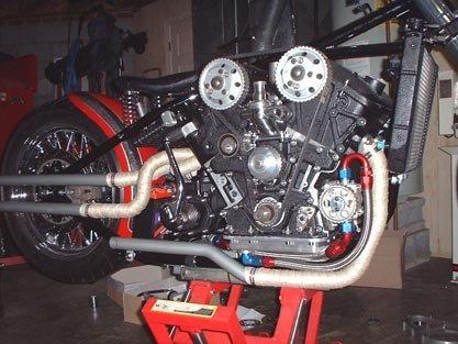 Harley-Davidson con motor V6 Alfa Romeo