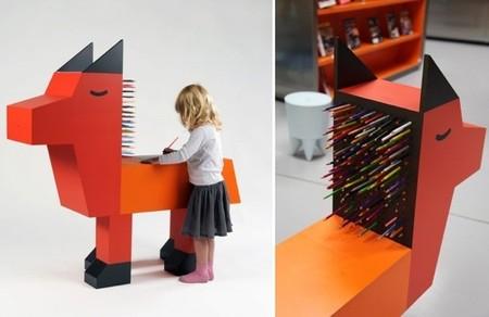 Colección de mesas de diseño para niños muy divertida pero poco funcional