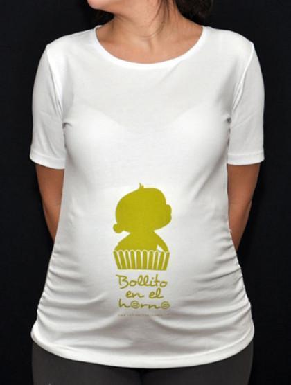 Día de la Madre: camiseta bollito en el horno para la futura mamá