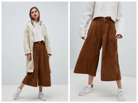 Pantalones Culotte Pana