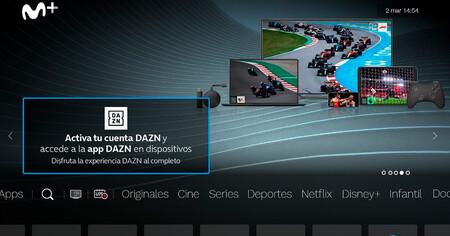 Cómo activar la cuenta DAZN gratuita para clientes de Movistar