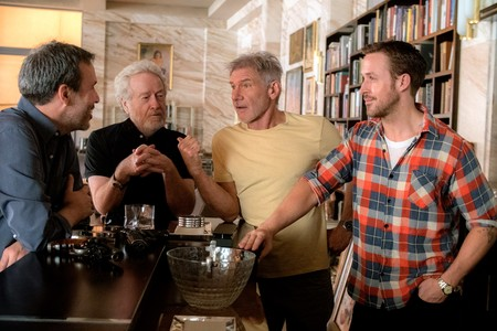 Denis Villeneuve, Ridley Scott, Harrison Ford y Ryan Gosling