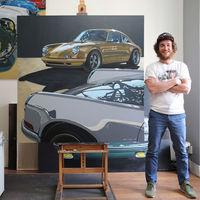 """Sueño con conducir algún día un Porsche 917"". Entrevistamos a Manu Campa, el pintor que convierte coches en obras de arte"