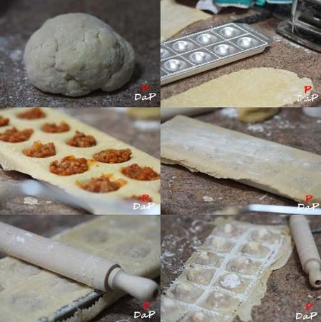 Cómo hacer los raviolis con pasta fresca al huevo