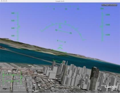 Huevo de pascua en Google Earth: simulador de vuelo