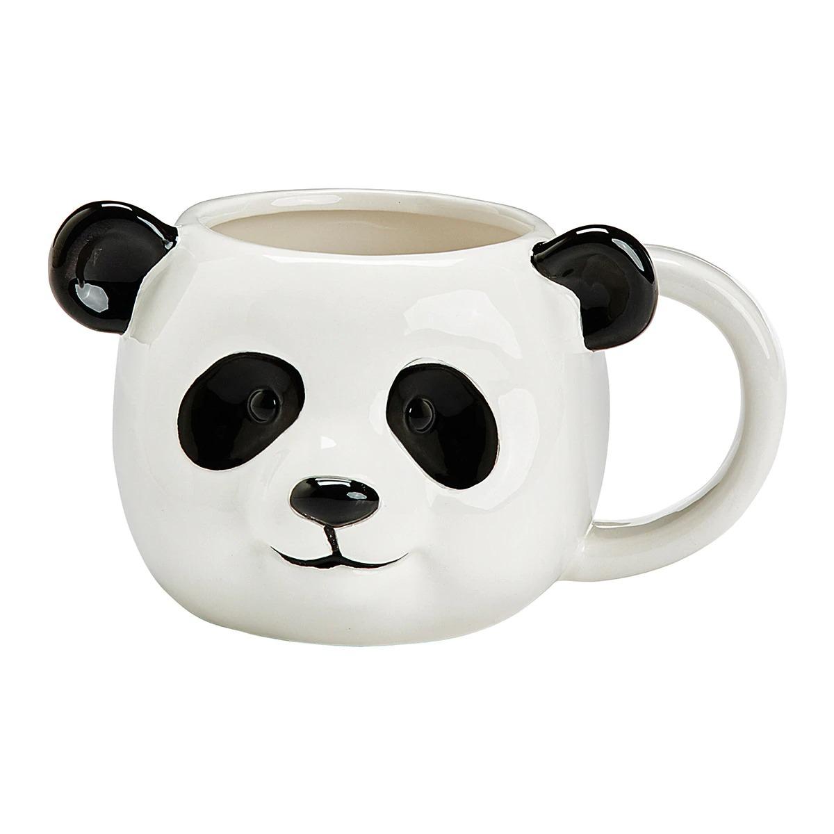 Taza panda de loza