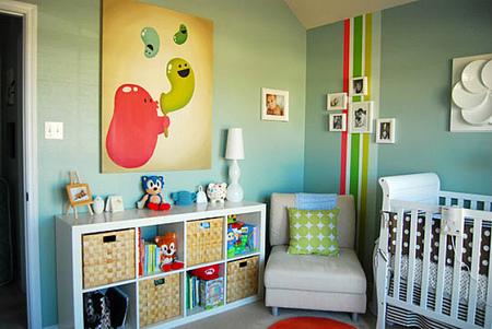 Buenas ideas para decorar las paredes de la habitación del bebé
