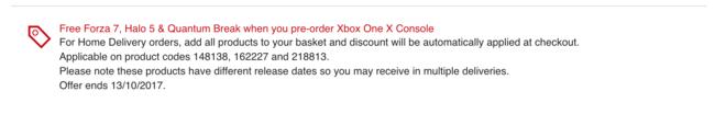Oferta Xbox™ One X