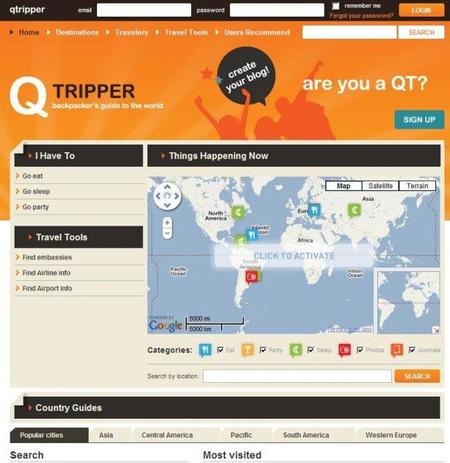 Qtripper, sitio con información interesante para los viajeros