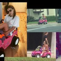 A la 'facul' con el coche de Barbie por retirada del carné