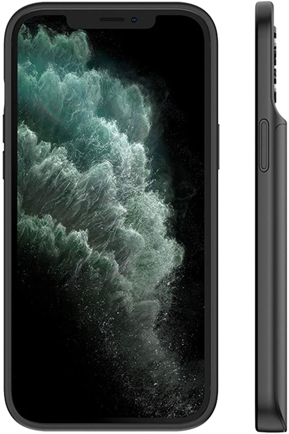 HiKiNS Funda Batería para iPhone 12 Mini 6800mAh Externa Ultra Batería Recargable Power Bank Case Funda Cargador Portatil Batería para iPhone 12 Mini