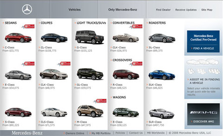 Web Mercedes-Benz USA